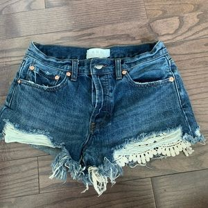 Free people high rise shorts
